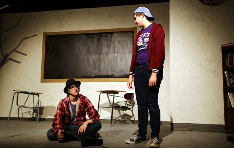 "The ""Waiting for Godot"" cast rehearses for their performances this week"