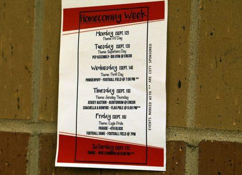 Spirit week schedule and events