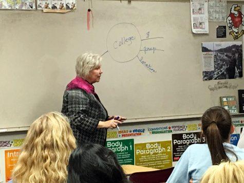Guest teaches speech class