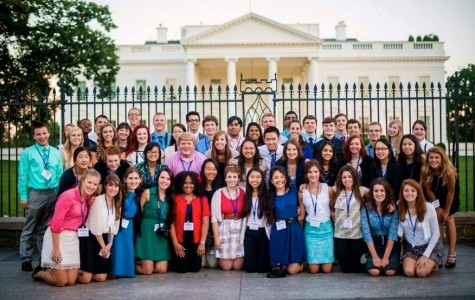51 students, including Play editor Jordan Watkins, attended the Al Neauharth Free Sprit and Journalism Conference in Washington, D.C. in July. Photo courtesy of the Newseum.