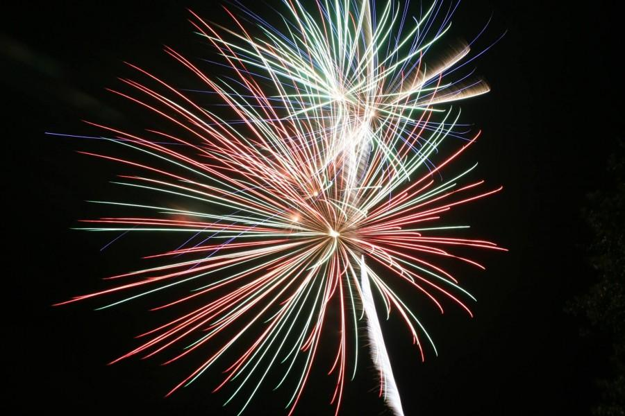 A fireworks show will be presented at approximately 9 P.M. tonight, before the Extravaganza dance.