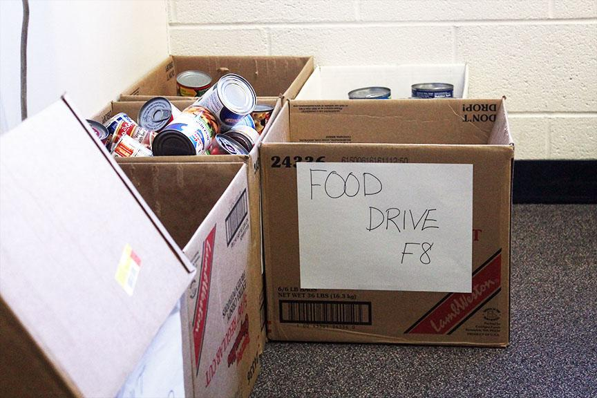 Diane Moser's classes hold food drives in order to help the community.