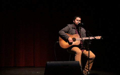 Maize grad Bedell performs for students