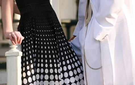 Senior gathering used prom dresses to donate