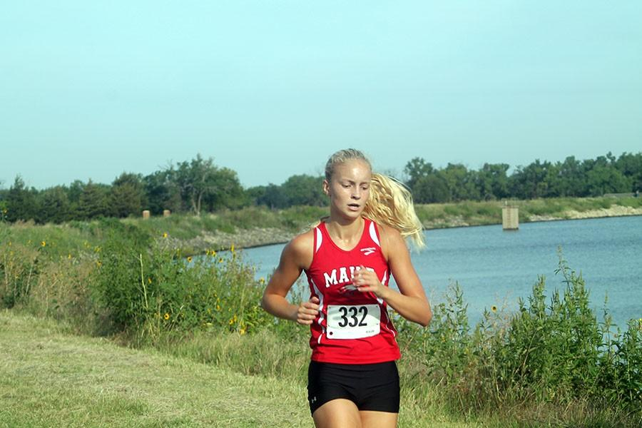 Sophomore Carson Pierce was one of three girls to medal at the Emporia meet.