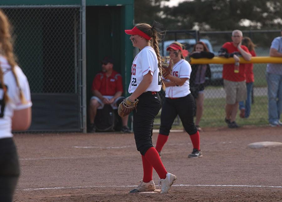 Sophomore Lauryn Ogden pitched against Campus on Friday.