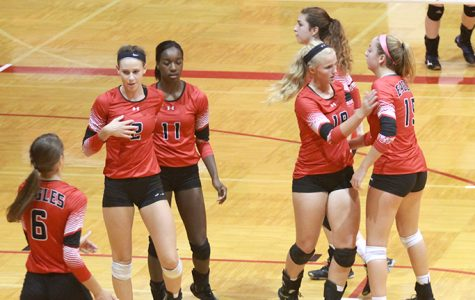 Volleyball defeats Andover, Salina South