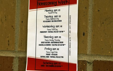 Spirit week schedule and events