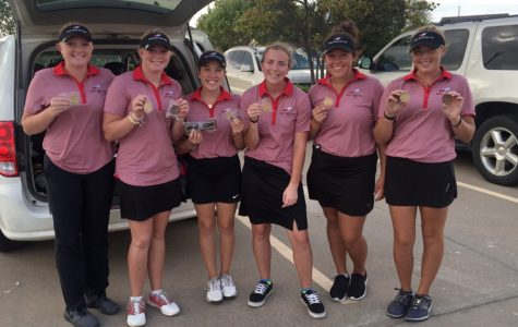 Girls golf wins league tournament