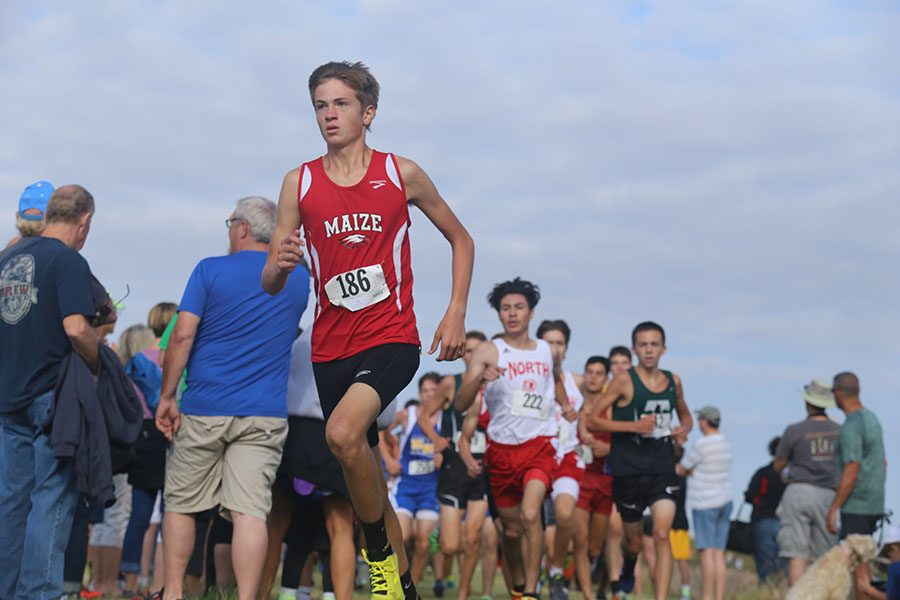 Junior Nathan Jones finishes seventh in the Nike Hearland Regional cross country meet. He ran against 916 other contestants.