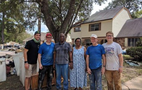 Jonathan Mercer helping the Houston community recover after Hurricane Harvey.