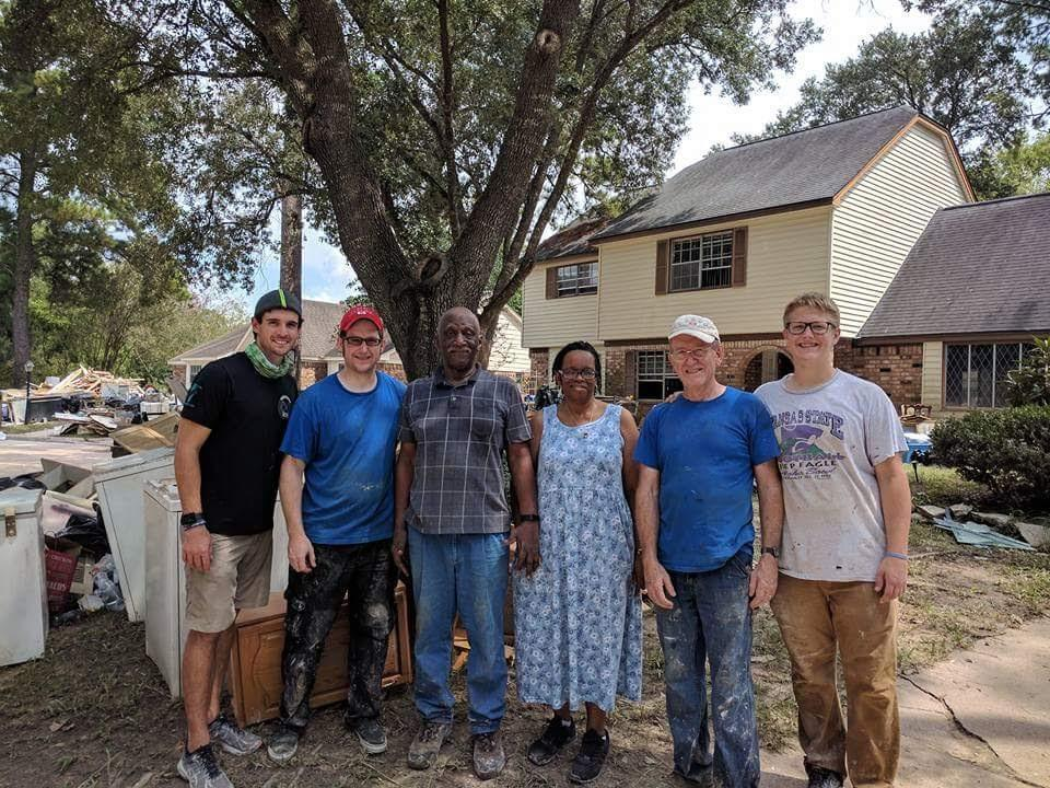 Jonathan Mercer helping the Houston community recover after Hurricane Harvey.
