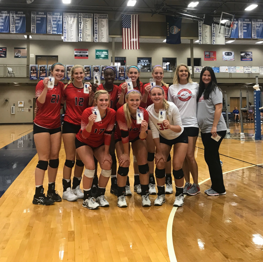 Maize volleyball finished their season at the Sub-State tournament. The Eagles defeated Emporia, but fell to Andover on Saturday. Photo submitted by Michelle Ledbetter