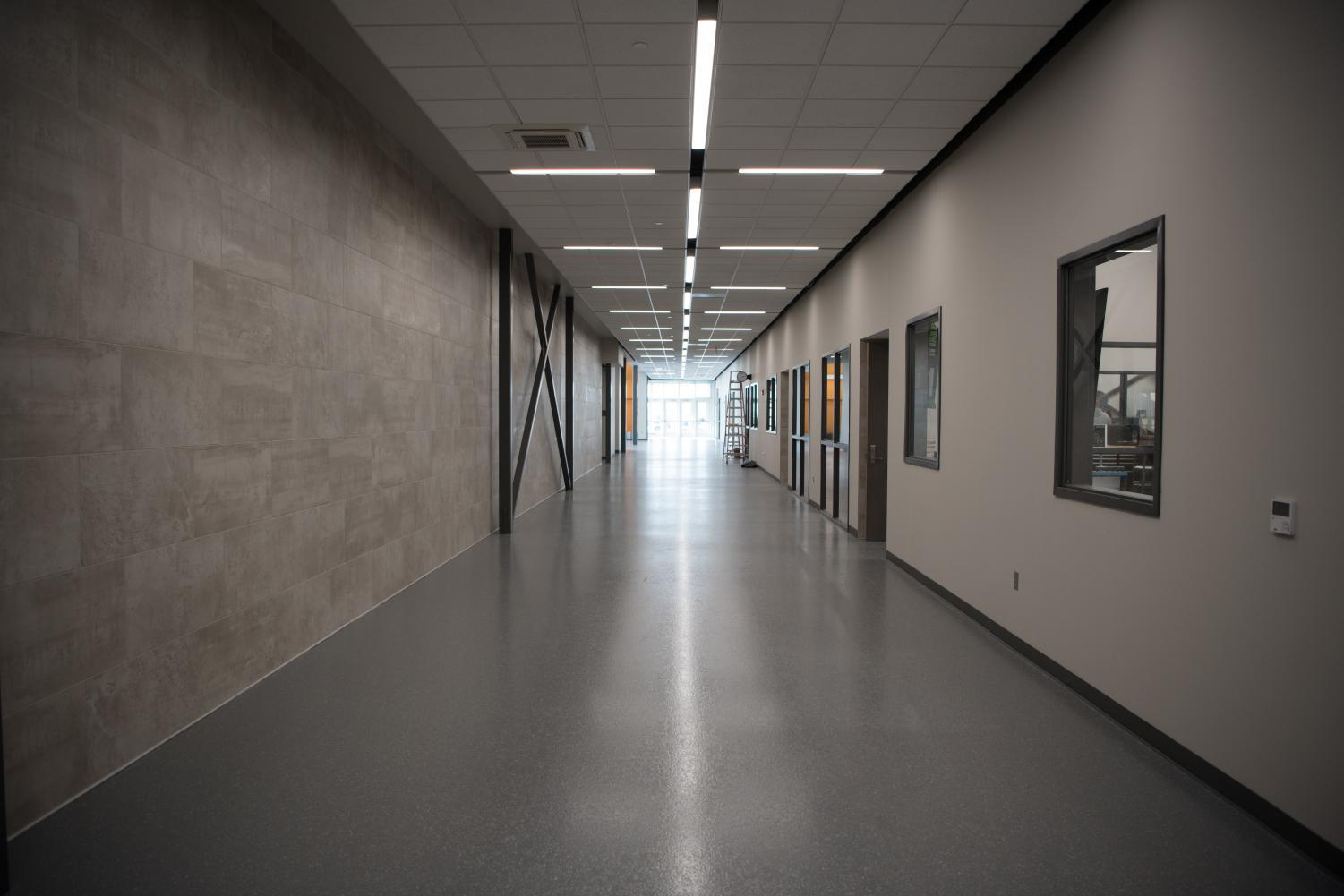 This+is+the+main+hallway+in+the+new+CTE+building%2C+where+most+of+the+classes+branch+off+from.+The+CTE+building+opened+on+January+fourth+but+is+still+under+construction.