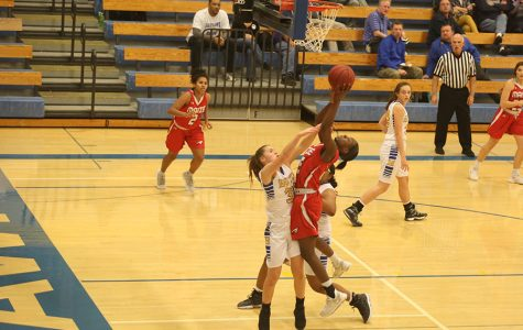 Autumn Hanna goes up for a shot Tuesday against Hutchinson. The Eagles won 57-34.