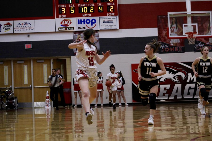The girls basketball team defeated Newton 55-14 on Friday.