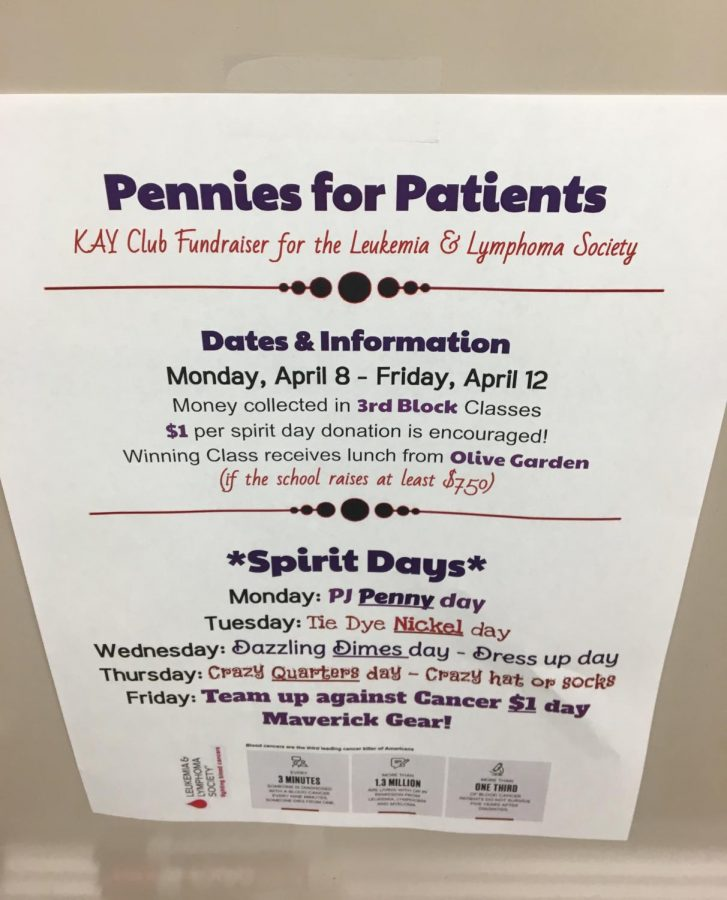 Maize South will hold Pennies for Patients next week.