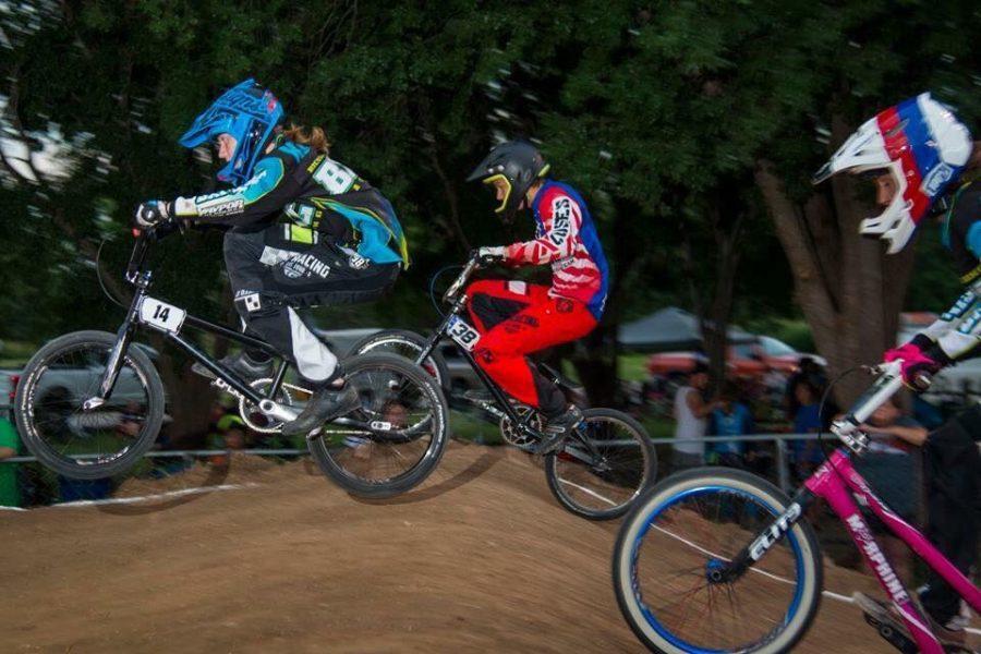 Sophomore races BMX Bikes