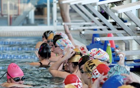 The girls swim team placed second at league and are looking forward to state.