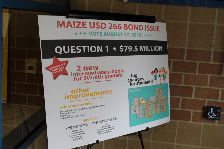 The Bond Election is Aug. 27. The election poses two questions.