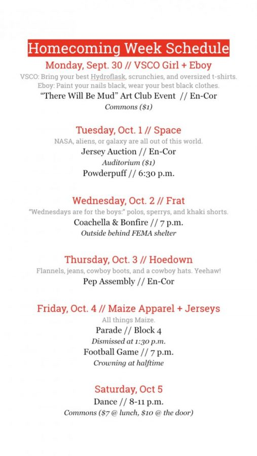 Fall+homecoming+week+began+Monday+with+VSCO+and+Eboy+spirit+day.+The+week+with+end+with+the+annual+homecoming+dance+from+8-11+p.m.+in+the+Commons.