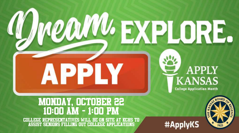 Apply Kansas day is Oct. 3. The event will be happening in the commons during 1st and 2nd block