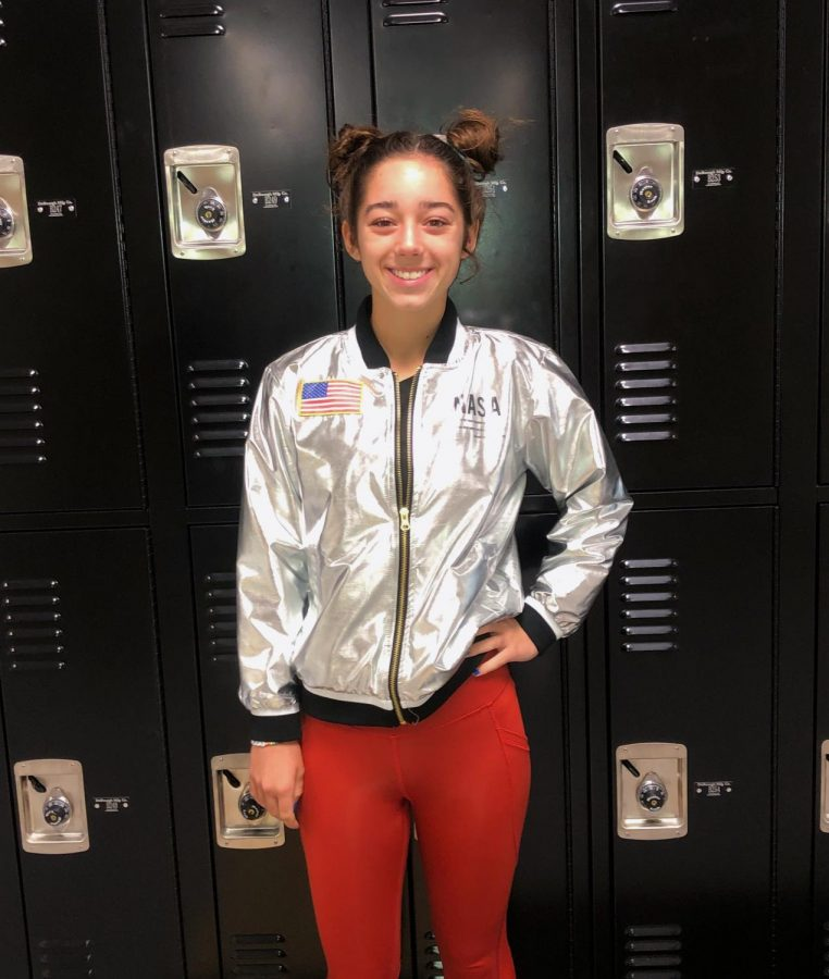 Brittany Smith, junior, says her favorite part of Homecoming week is dressing up all week.