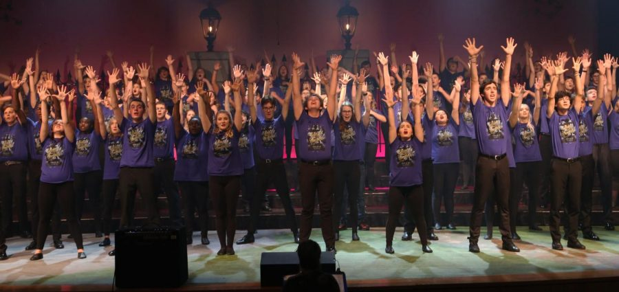 All choirs perform to the last number in the matinee.