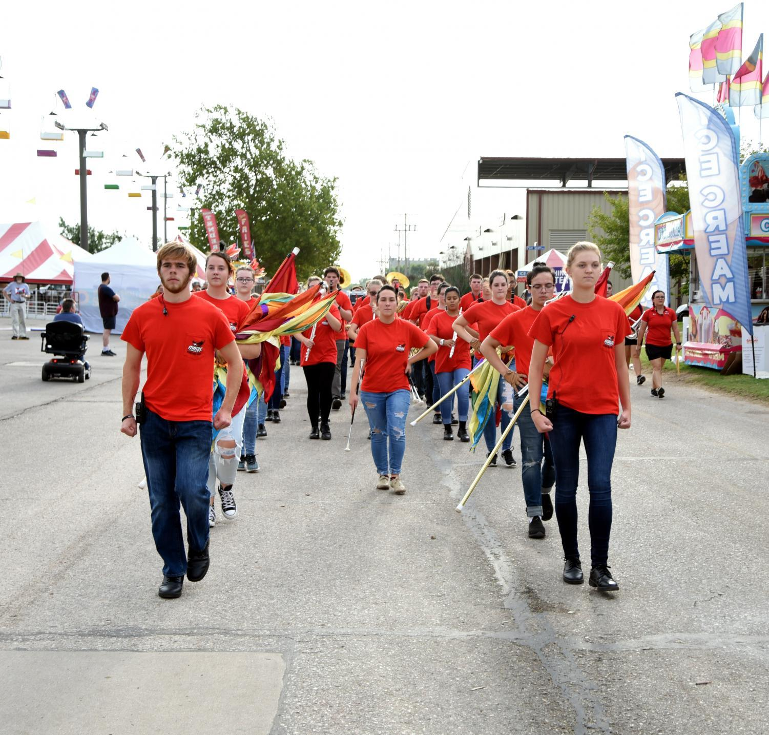 Members of the band perform at the State Fair.