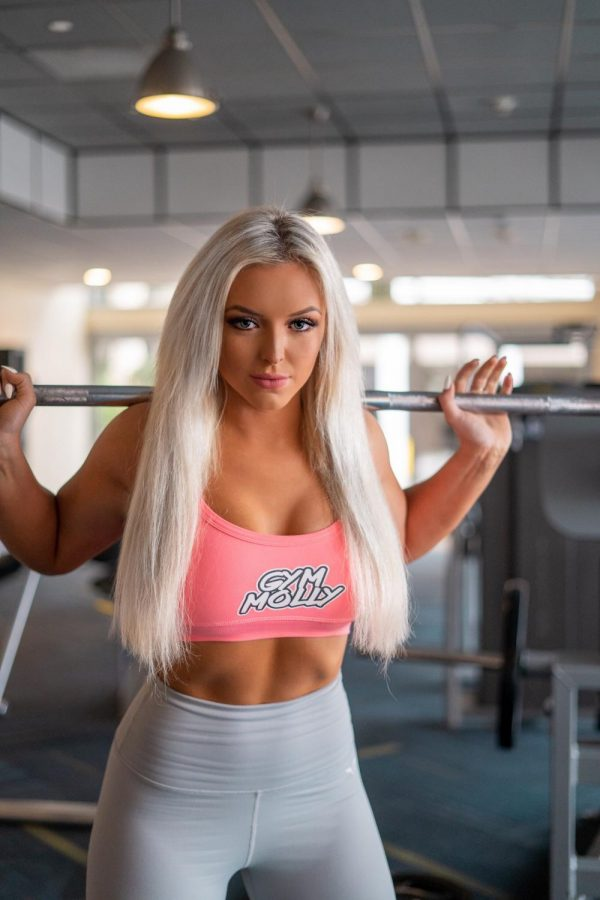 Makenna Miller poses for a Gym Molly photo shoot to promote the companys different supplements and products.