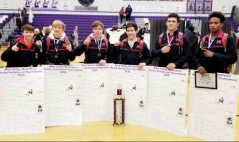 Wrestling team takes first at Blue Valley Northwest tournament