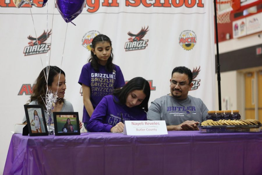 Senior Nayeli Reveles signs to Butler Community College continuing to play soccer.