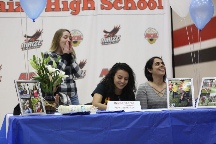 Senior Reyna Meraz signs to Pratt Community College for soccer.