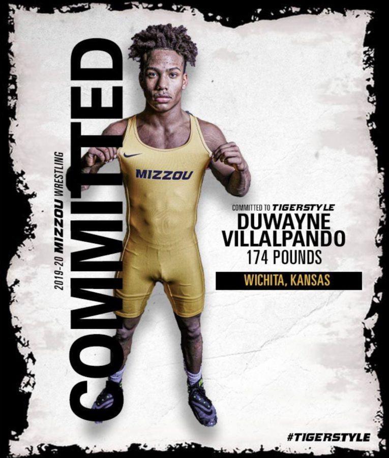 Senior Duwayne Villalpando committs to University of Missouri to further his wrestling career.