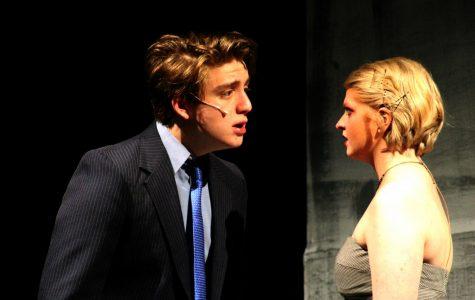 Junior Ollie Henderson and senior Brayden Worden act against each other as Macbeth and Lady Macbeth.
