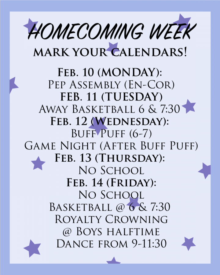 Winter homecoming approaches next week