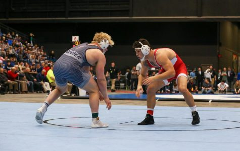 Kyle Haas finished in second place at the state wrestling tournament last year. The tournament took place at Hartman Arena.