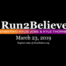 The annual Run2Believe race will take place on March 21.