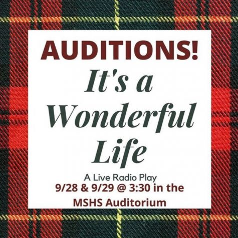Auditions for ¨It´s a Wonderful Life will be held on Sept 28-29 in the  Maize South High School auditorium at 3:30 pm.