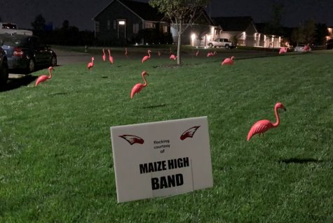 Marching band begins a creative fundraising activity.