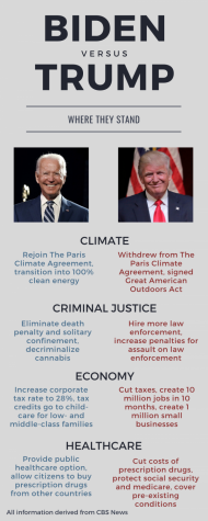 Infographic: Where the presidential candidates stand