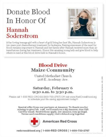 Community blood drive to be hosted