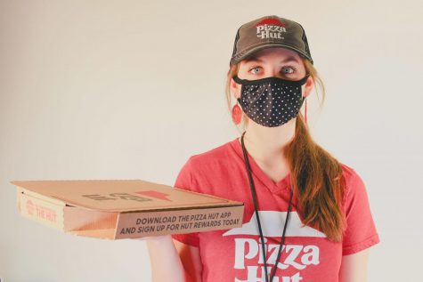 """My typical opening shift begins with portioning marinara cups for the breadsticks, folding boxes, washing dishes, while setting up and running our """"cut table."""" On opening shifts, I also help our opening cook with revenue and stretching dough."""