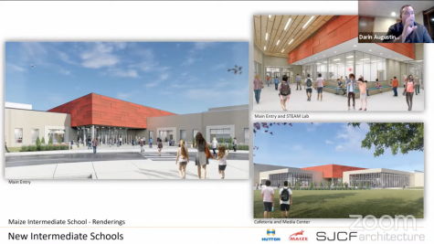 Entry for Maize Intermediate School. Maize South will have a similar entry design.