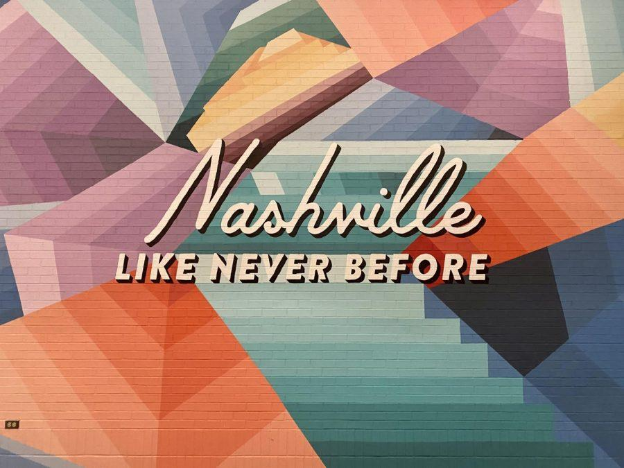 Throughout Nashville, you can spot teens and young adults posing for Instagram worthy photos. The city is filled with hidden gems such as the wall above, others on the sides of buildings and some shopping places feature these colorful and vibrant backdrops to get more visitors in their doors.