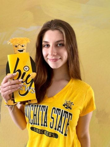 """After graduation this Monday, Piper Pinnetti plans to attend Wichita State University to major in journalism. """"I cannot wait to be a Shocker,"""" Pinnetti said. """"I love the vibrant yellow and everyone on the campus is super friendly. I am excited to take my writing experience a step further and make it my life."""""""