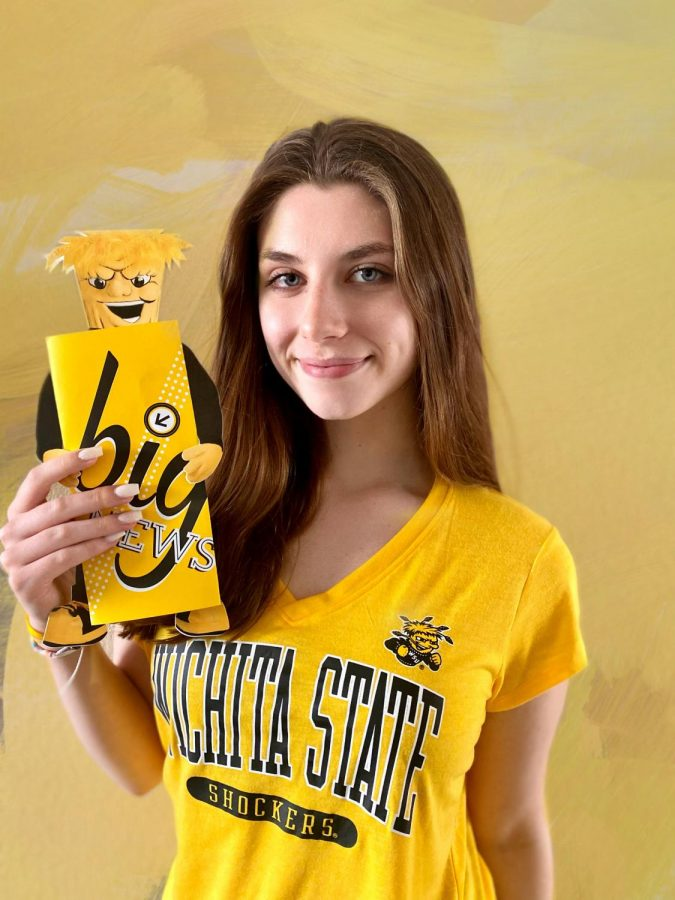 After graduation this Monday, Piper Pinnetti plans to attend Wichita State University to major in journalism. I cannot wait to be a Shocker, Pinnetti said. I love the vibrant yellow and everyone on the campus is super friendly. I am excited to take my writing experience a step further and make it my life.