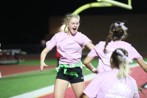 Seniors defeated the juniors 13-7 during the Powderpuff game. Both teams were given at least two practices to study plays and prepare for the game.