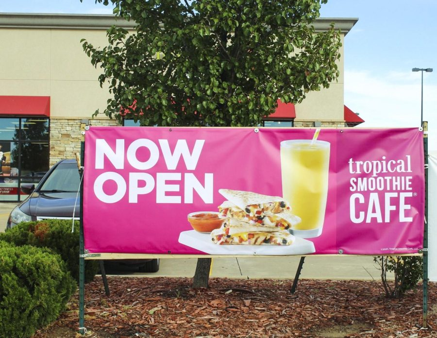 """Tropical Smoothie Cafe is now open on Maize Road next to Mattress. Tomorrow, October 15, they will sell $1.99 smoothies all day to celebrate their grand opening. """"We want people to come into the store for this to be their tropical escape,"""" said Jenni Courtney. """"To take a drink of their smoothie and feel like they're on vacation."""""""
