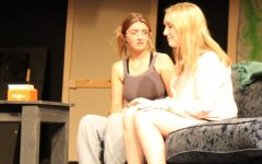 Sarah McKay (11) and Maggie Hundley (11) rehearse an emotional scene in the Odd Couple. Im much more of a Florence in real life and I have to watch one of my closest friends bawl on stage, said McKay.